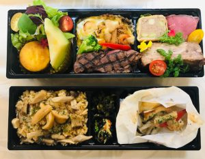 松茸&ビーフ弁当